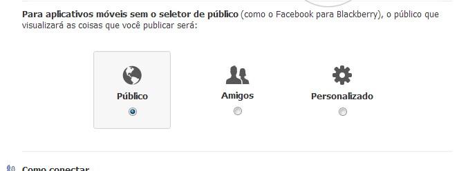 Facebook (Central de privacidade)
