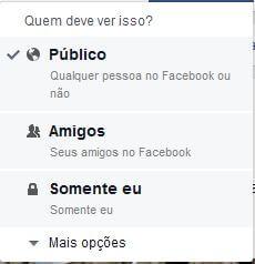 Facebook (opções de privacidade)